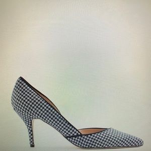 J Crew Colette d'Orsay Pumps in Houndstooth #F5533